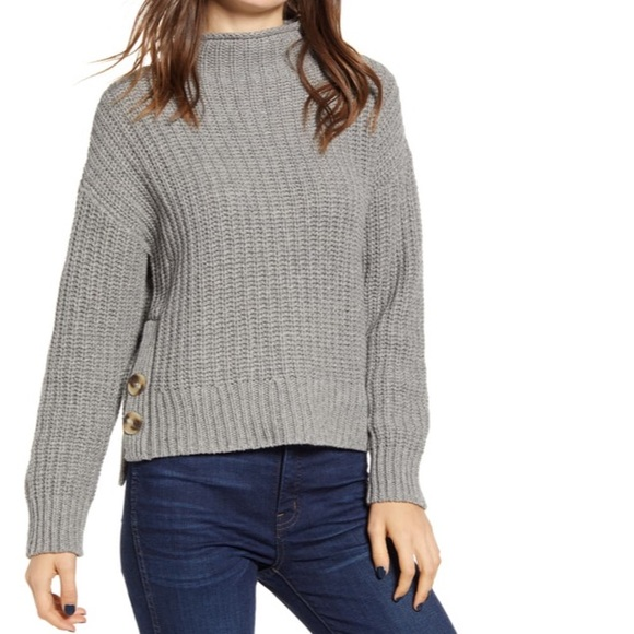 NWT Madewell mockneck side button sweater
